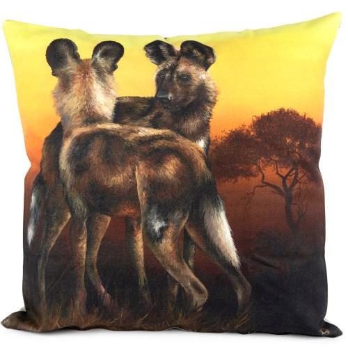 African Spirit: Wild Dog Pillow Cover