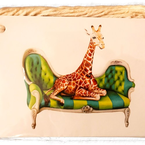 Wildlife at Leisure: Gift Tags (Set of 6) Giraffe