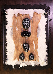 Pebble figure African man decorative artwork