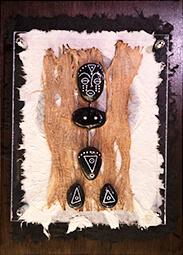 Decoratieve kunst met Kiezelsteen figuur