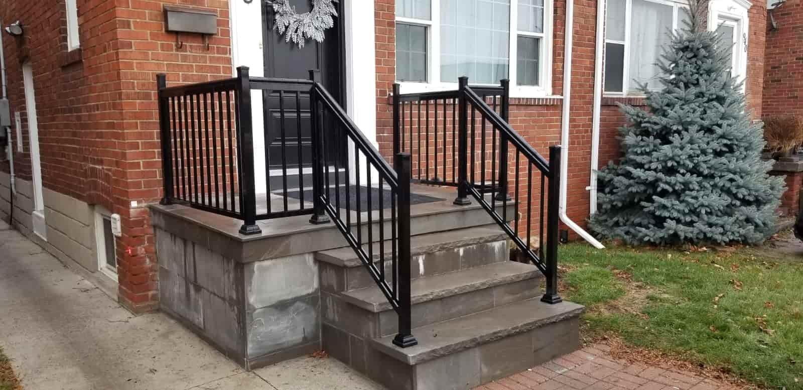 Aluminum Outdoor Stair Railings Railing System Ideas Diy | Aluminum Handrails For Steps