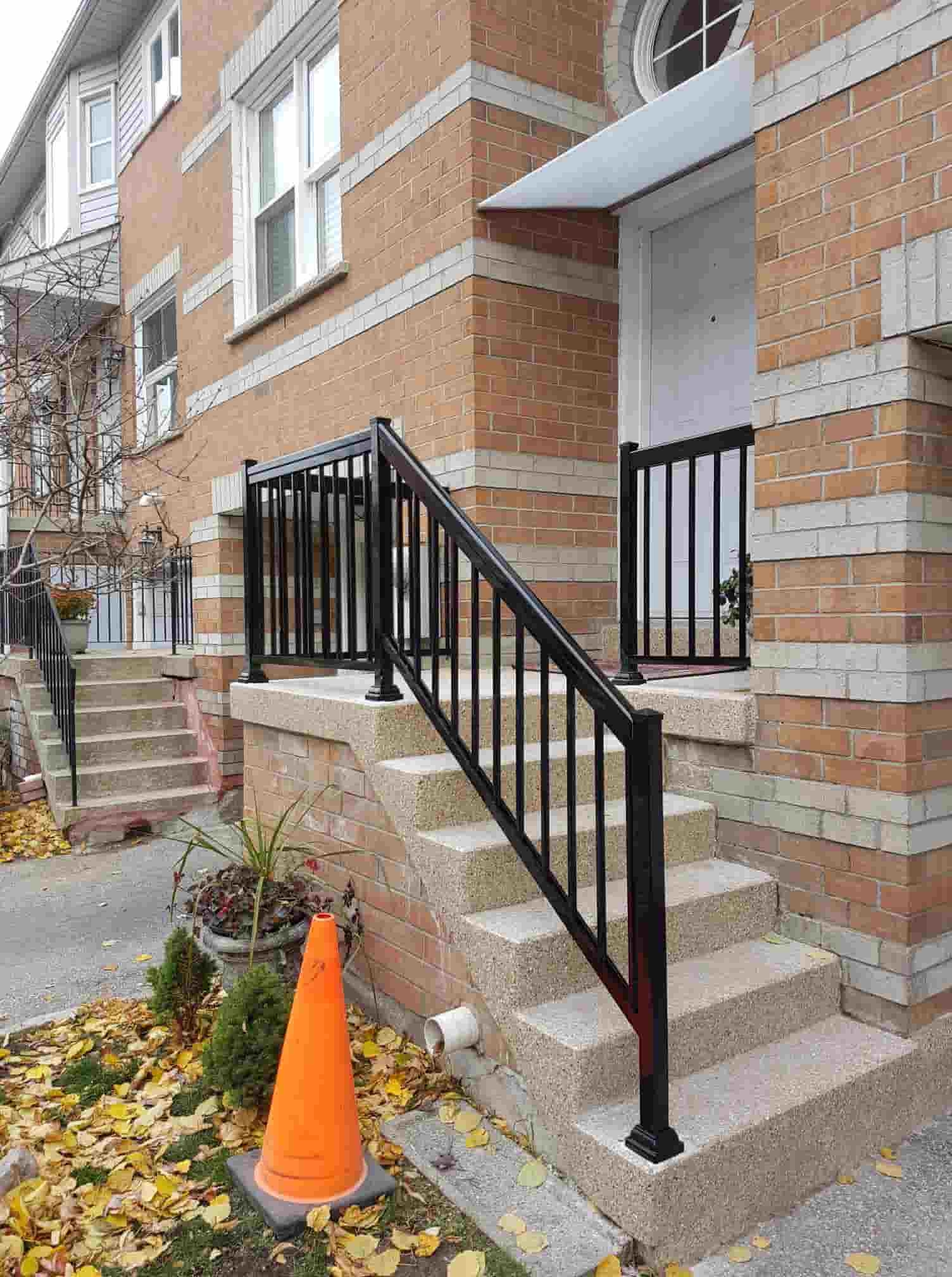 Commercial Aluminum Railing Systems Handrails Its Height | Portable Stairs With Railing