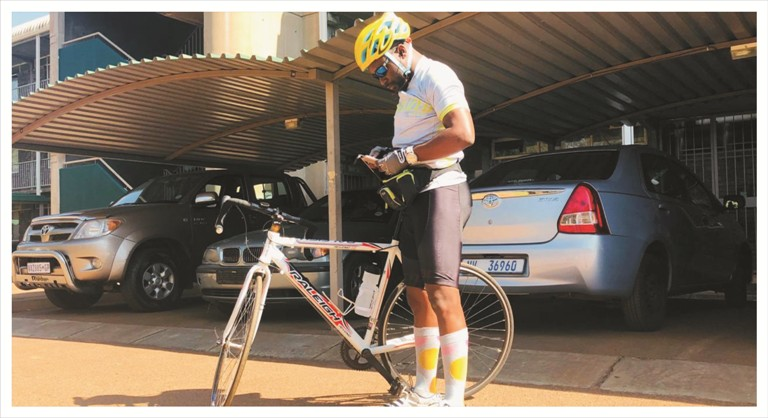 Cycling for charity with Ntwanano Ngobeni 2