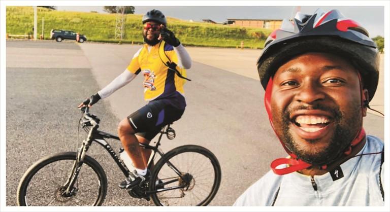 Cycling for charity with Ntwanano Ngobeni 4
