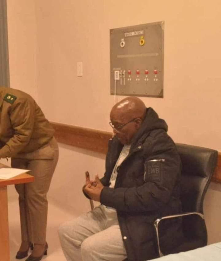 Jacob Zuma In Prison Pictures Leaked