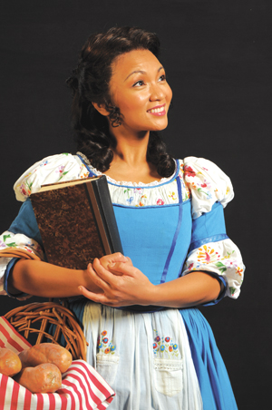"Jennifer Paz's casting as Belle from ""Beauty and the Beast"" is an example of how directors and audiences can be more ""color-blind"" these days. (Photo provided by the Village Theatre)"