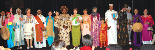 Fashion show models consisted of ReWA staff and clients. Hong Duong, Mira Anusova, and Stephanie Mano organized and produced the show.