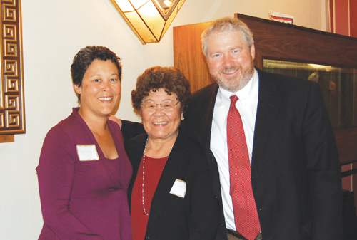 Mike McGinn with his wife, Peggy Lynch (left), and his mother-in-law, Reiko Lynch (Photos by George Liu/NWAW)