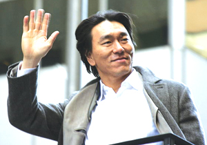 Hideki Matsui at the 2009 World Series parade to celebrate the Yankees' 27th World Series win (Photo by edogisgod on Flickr.com)