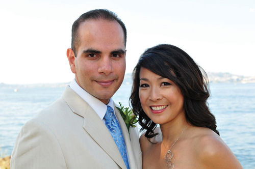 It was a beautiful and sunny day when Christine Chen and Richard Velazquez married at the Alki Beach Bathhouse on Aug. 1.