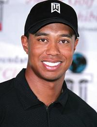 Professional golfer Tiger Woods