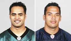 Reno Mahe (left) and Gabe Reid