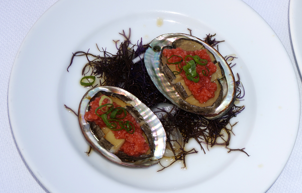 BLOG abalone dish on left