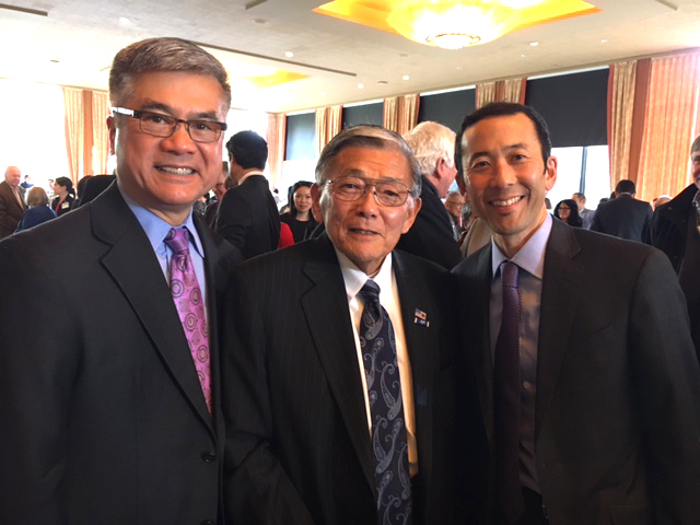 TOMODACHI PICTORIAL Michael Shiosaki with Norm Mineta and Gary Locke