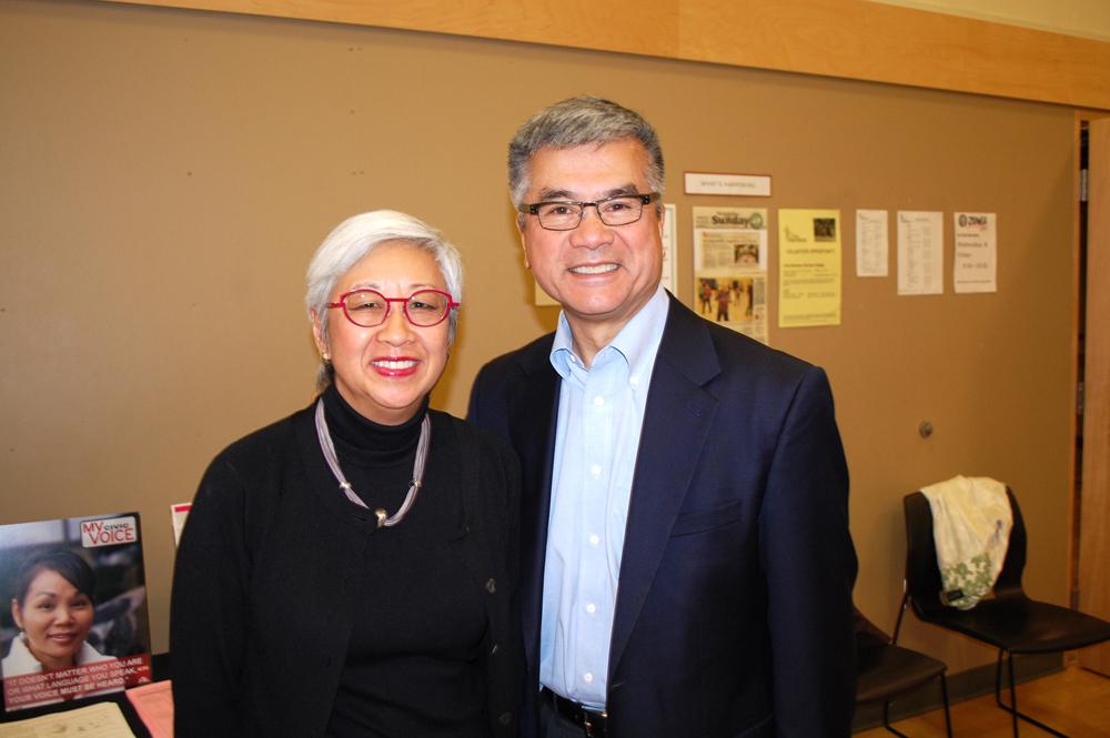 Co-chairs Martha Choe and Gary Locke, AAPI Democracy Initiative. (Photo by John Liu/NWAW)