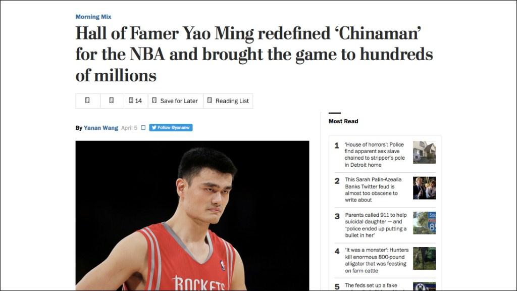 Screenshot of original Washington Post headline.