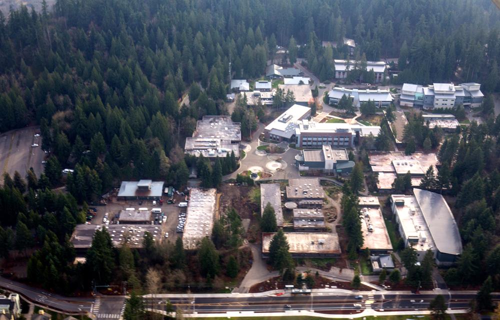 Aerial view of Green River College, Auburn. (Photo by Zack Apiratitham)