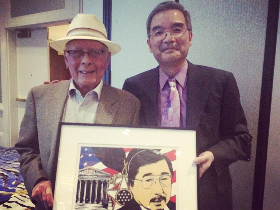 From left: Bob Santos, Tim Otani (Photo by Assunta Ng/NWAW)