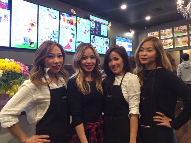 (left to right) Amy Nguyen, Dyane Ng (owner), Vivian Nguyen, Vi Kathie Nguyen