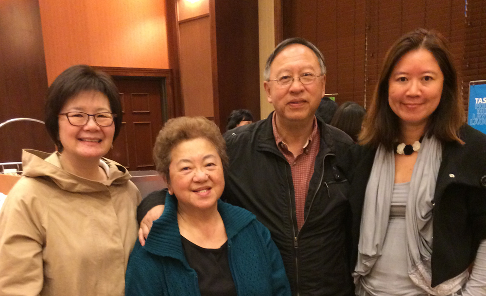 From left: Cathy Lee, Bettie Luke, Fred Yee, and Ming-Ming Tung-Edelman. (Photo provided by Fred Yee)