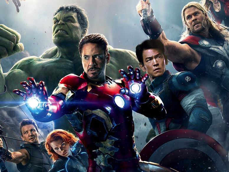 """John Cho on """"Avengers"""" poster"""