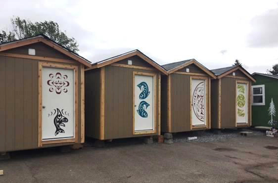 8' x 12' houses at Othello Village. (Photo provided by LIHI)