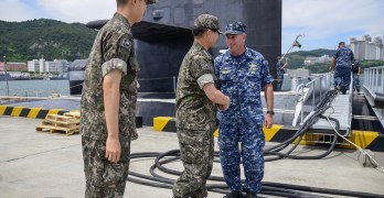 USS Ohio makes a visit to South Korea