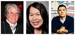 From left: Ellen Ferguson, Huong Vu, and Louie Gong