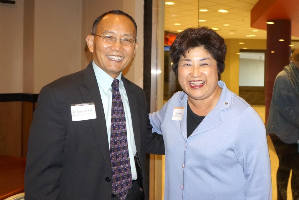 Dr. Shouan Pan and Rep. Cindy Ryu