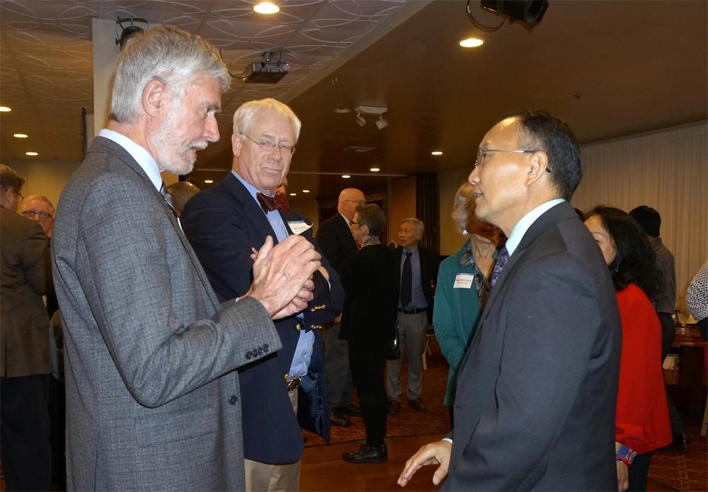 Jim Dawson and Dr. Shouan Pan