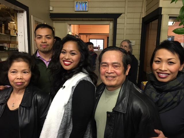 From left: Chea Pol, Davie, Sokha, Heng Hay, and Channa Hay (Photo by John Liu/NWAW)