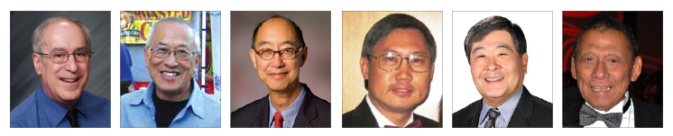 These are few of the men who fought to include women in the Rotary: (from left) Bruce Caplan, Dennis Su, Glenn Chinn, Jesse Tam, Lloyd Hara, and Paul Mar
