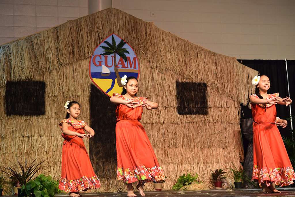 Young Guma' Imahe dancers moved gracefully, telling the story of their land and ancestors.