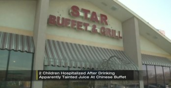 Juice order at Chinese buffet causes children throat burns