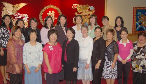 Local women attend a networking event at New Hong Kong Restaurant.