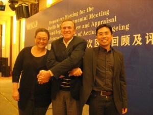Dr Ng Wai Chong, Eduardo Klein, HelpAge International and Dr Mary Ann Tsao (Dr Ng's mentor), UNESCAP