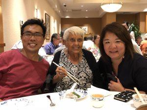Dr Ng Wai Chong with Ms Marie Louis Ansak and Ms Grace Li