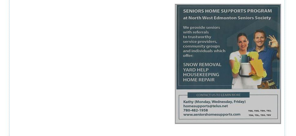 Seniors Home Supports Program