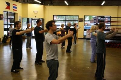 Training tai chi beginner style