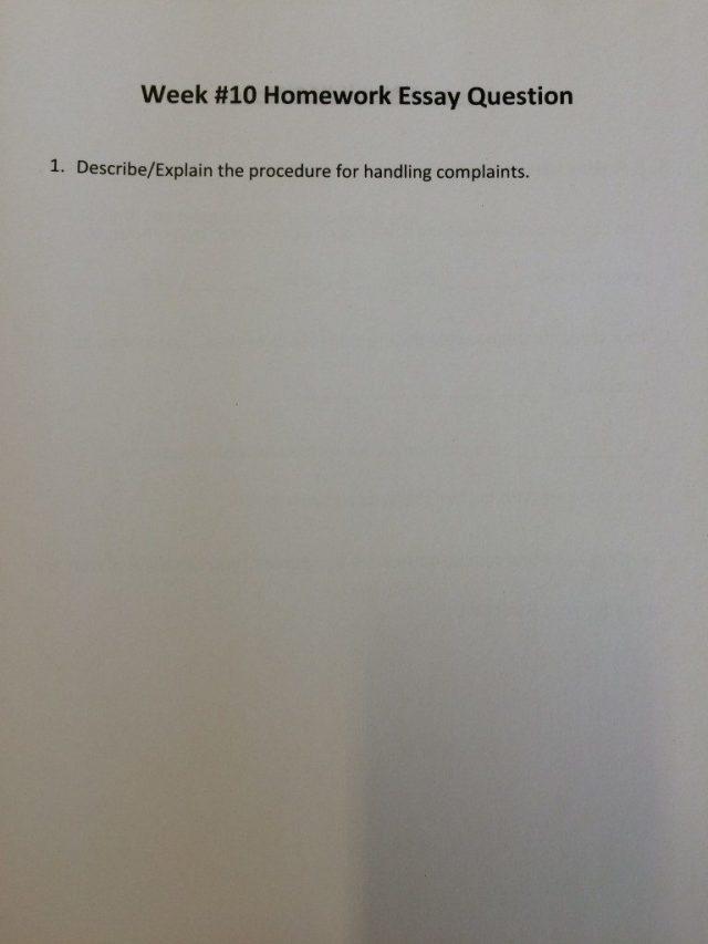 Video 10 Homework Essay