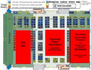 2015 Fitness EXPO indoor floor plan