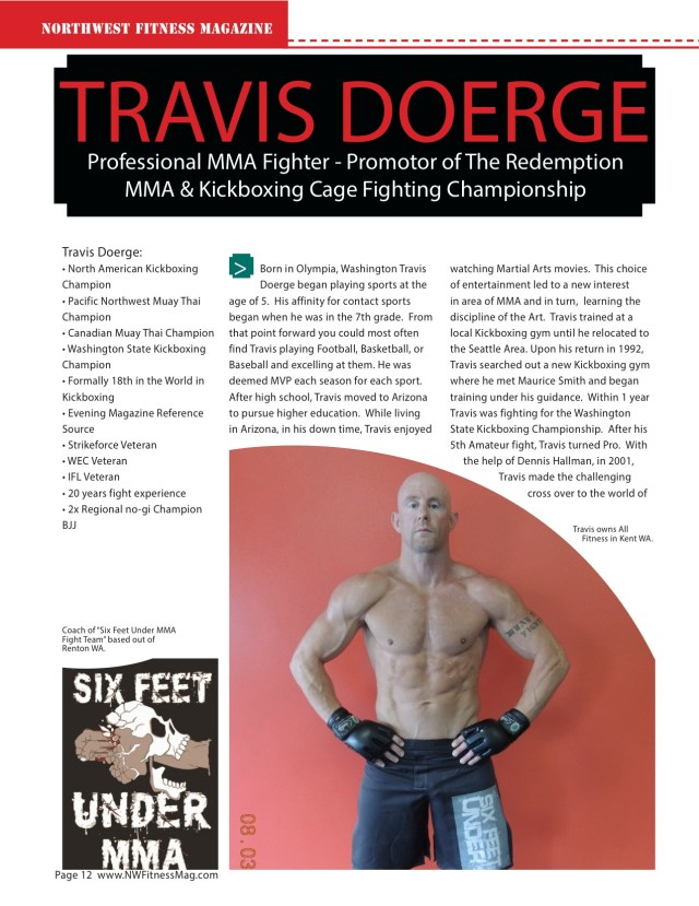 TRAVIS DOERGE Professional MMA Fighter - Promotor of The Redemption MMA & Kickboxing Cage Fighting Championship