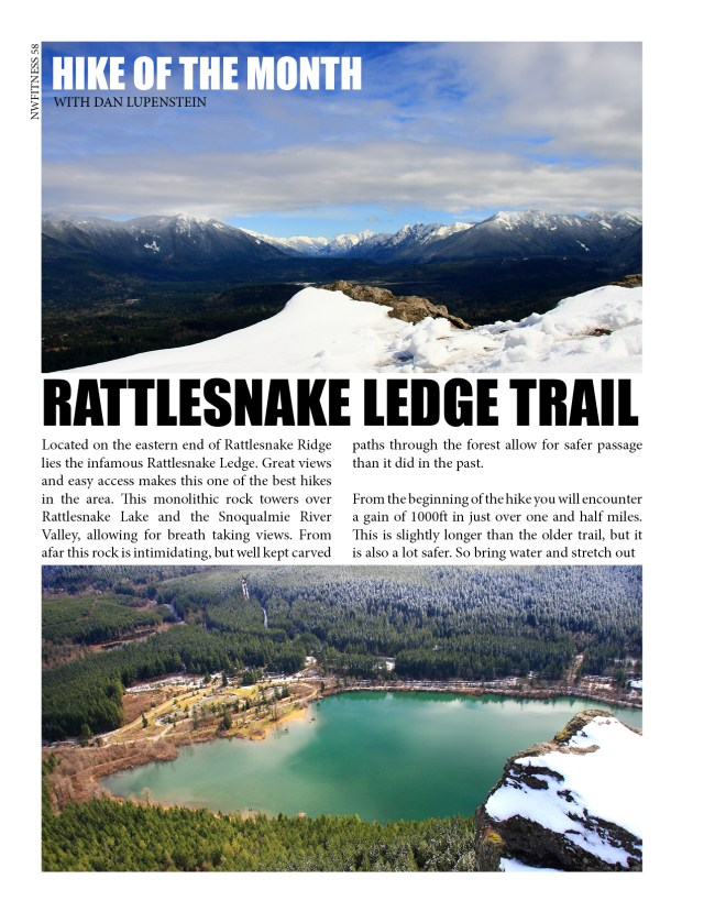 HIKE OF THE MONTH  WITH DAN LUPENSTEIN  RATTLESNAKE LEDGE TRAIL