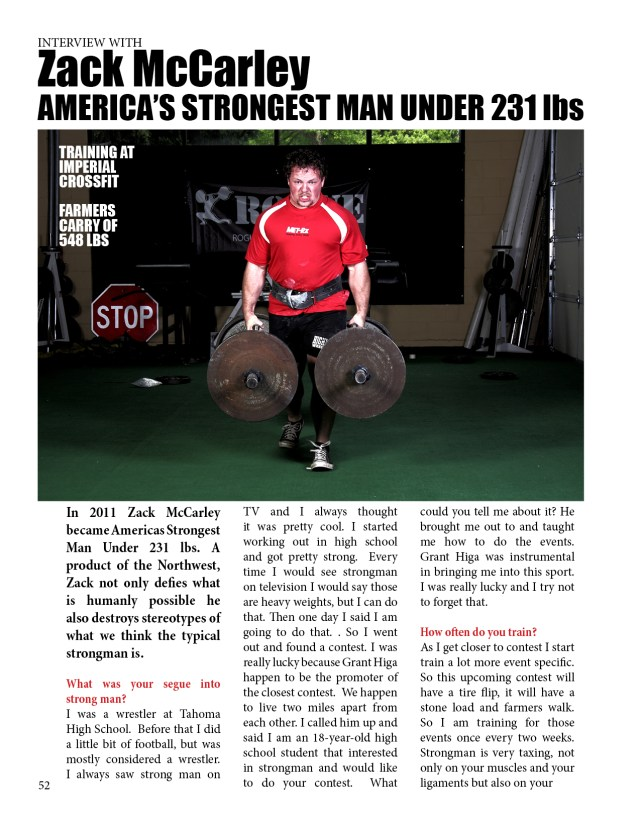 INTERVIEW WITH  Strongman Zack McCarley
