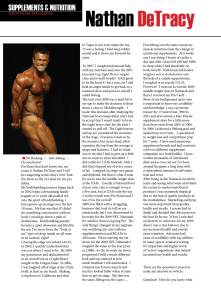 NW Fitness Magazine-Supplements & Nutrition - Nathan DeTracy
