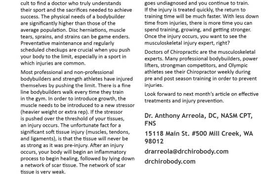 NW Fitness Magazine- Dr Anthony Arreola, DC, NASM, CPT, FNS