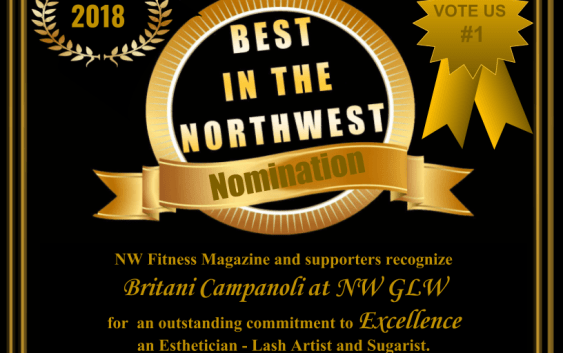 Britani Campanoli at NW GlW- Certificate of Excellence Award - NW Fitness Magazines 'Best in the NW""