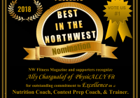 Best in the NW -Ally Chargualaf of  PhysicALLY Fit – Nutrition Coach, Contest Prep Coach, & Trainer.