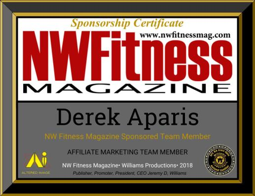 NW Fitness Magazine Team Sponsorship Certificate