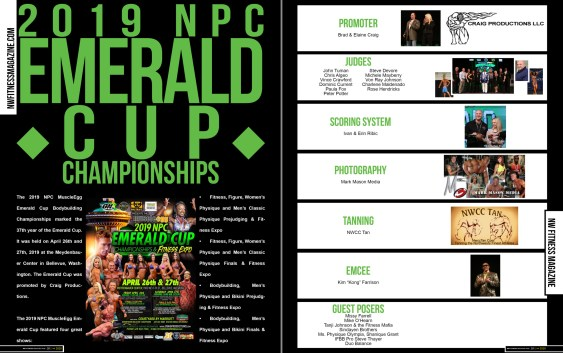 Inside this issue you can find: Event coverage from the following competitions: 2019 N.P.C Emerald Cup 2019 N.P.C, Vancouver Open 2019 N.P.C, Judgement Day 2019 N.P.C, Empire Classic, NW Fitness Magazine Jan 2020 - On the Cover 2019 NPC Emerald Cup Open Class Winners: Justin Pense - Bodybuilding Tricia Mowatt - Figure Jarell Betton - Men's Physique Dominic Semenza - Mens Classic Physique Alisa Johansson - Bodybuilding Tina Brown- Womens Physique Amanda Ciani - Fitness Jessica Roy - Bikini